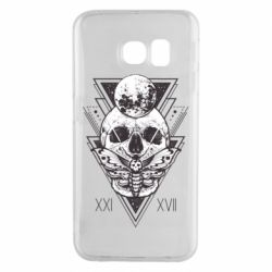 Чохол для Samsung S6 EDGE Skull with insect
