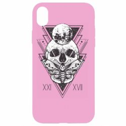 Чохол для iPhone XR Skull with insect