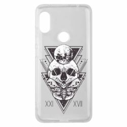 Чохол для Xiaomi Redmi Note Pro 6 Skull with insect