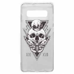 Чохол для Samsung S10+ Skull with insect