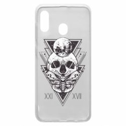 Чохол для Samsung A20 Skull with insect
