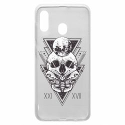 Чохол для Samsung A30 Skull with insect