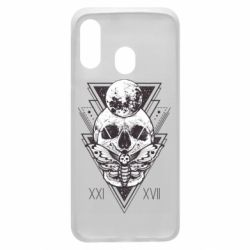 Чохол для Samsung A40 Skull with insect