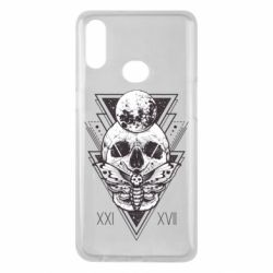 Чохол для Samsung A10s Skull with insect