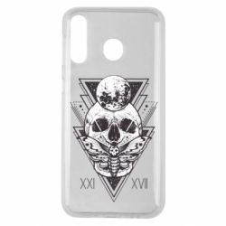 Чохол для Samsung M30 Skull with insect