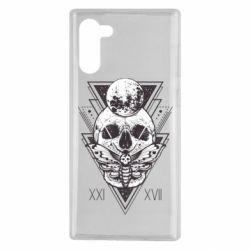 Чохол для Samsung Note 10 Skull with insect