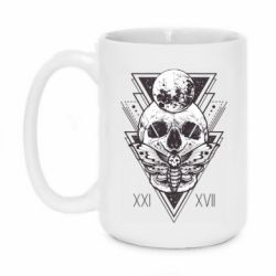 Кружка 420ml Skull with insect