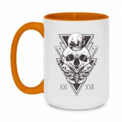 Кружка двоколірна 420ml Skull with insect