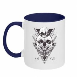 Кружка двоколірна 320ml Skull with insect