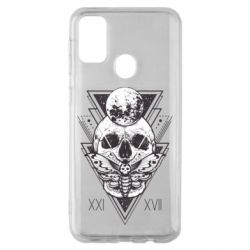 Чохол для Samsung M30s Skull with insect