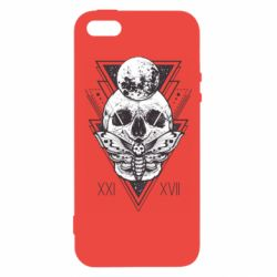 Чохол для iphone 5/5S/SE Skull with insect