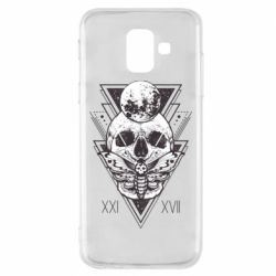Чохол для Samsung A6 2018 Skull with insect