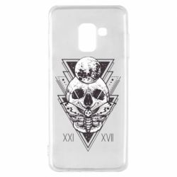 Чохол для Samsung A8 2018 Skull with insect