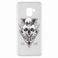 Чохол для Samsung A8+ 2018 Skull with insect
