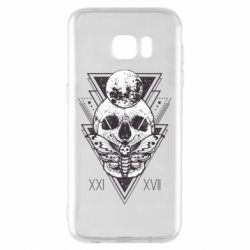 Чохол для Samsung S7 EDGE Skull with insect