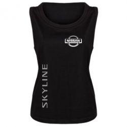 Женская майка Skyline Logo (Nissan) - FatLine