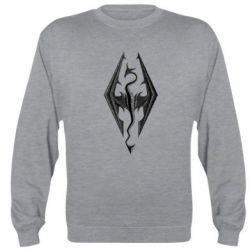 Реглан (свитшот) Skyrim Logo 3D - FatLine
