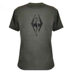 Камуфляжная футболка Skyrim Logo 3D - FatLine