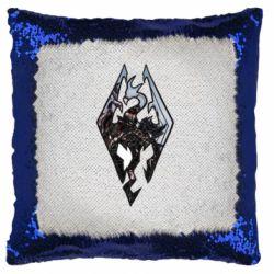Подушка-хамелеон Skyrim Logo