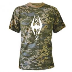 Камуфляжная футболка Skyrim - FatLine