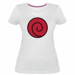Женская стрейчевая футболка Сlan Uzumaki