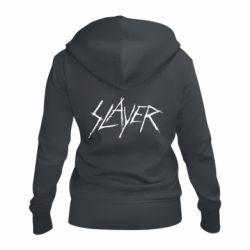 Женская толстовка на молнии Slayer scratched
