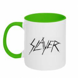 Кружка двухцветная 320ml Slayer scratched