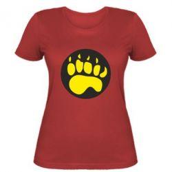 Жіноча футболка слід - FatLine
