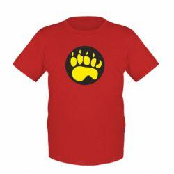 Детская футболка след - FatLine