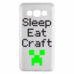 Чохол для Samsung A3 2015 Sleep,eat, craft