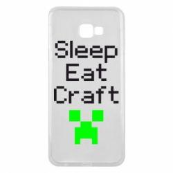 Чохол для Samsung J4 Plus 2018 Sleep,eat, craft