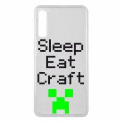 Чохол для Samsung A7 2018 Sleep,eat, craft