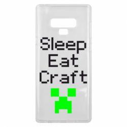 Чохол для Samsung Note 9 Sleep,eat, craft