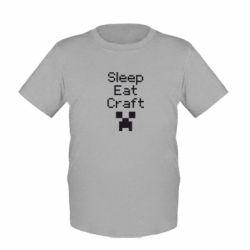 Детская футболка Sleep,eat, craft - FatLine