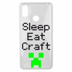 Чехол для Xiaomi Mi Max 3 Sleep,eat, craft