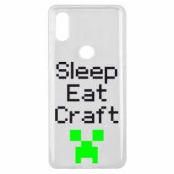 Чехол для Xiaomi Mi Mix 3 Sleep,eat, craft