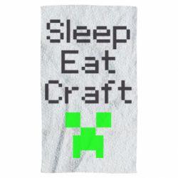 Рушник Sleep,eat, craft