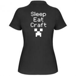 Женская футболка поло Sleep,eat, craft - FatLine