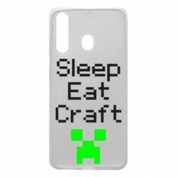Чохол для Samsung A60 Sleep,eat, craft