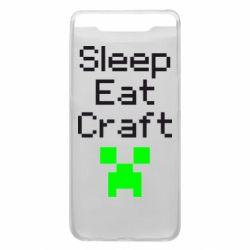 Чохол для Samsung A80 Sleep,eat, craft