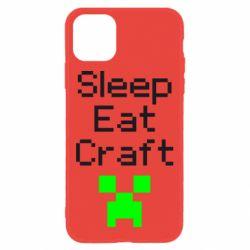 Чохол для iPhone 11 Sleep,eat, craft