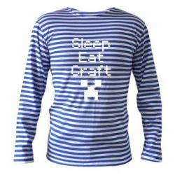 Тельняшка с длинным рукавом Sleep,eat, craft - FatLine