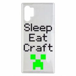 Чохол для Samsung Note 10 Plus Sleep,eat, craft