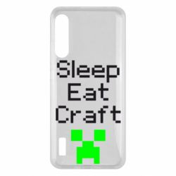 Чохол для Xiaomi Mi A3 Sleep,eat, craft