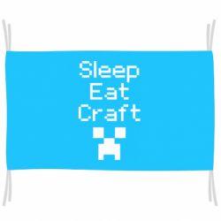 Прапор Sleep,eat, craft
