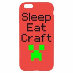 Чохол для iPhone 6/6S Sleep,eat, craft