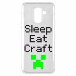 Чохол для Samsung A6+ 2018 Sleep,eat, craft