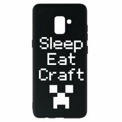 Чохол для Samsung A8+ 2018 Sleep,eat, craft