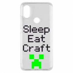 Чохол для Xiaomi Mi A2 Sleep,eat, craft
