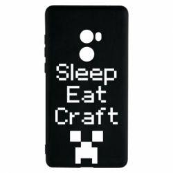 Чехол для Xiaomi Mi Mix 2 Sleep,eat, craft